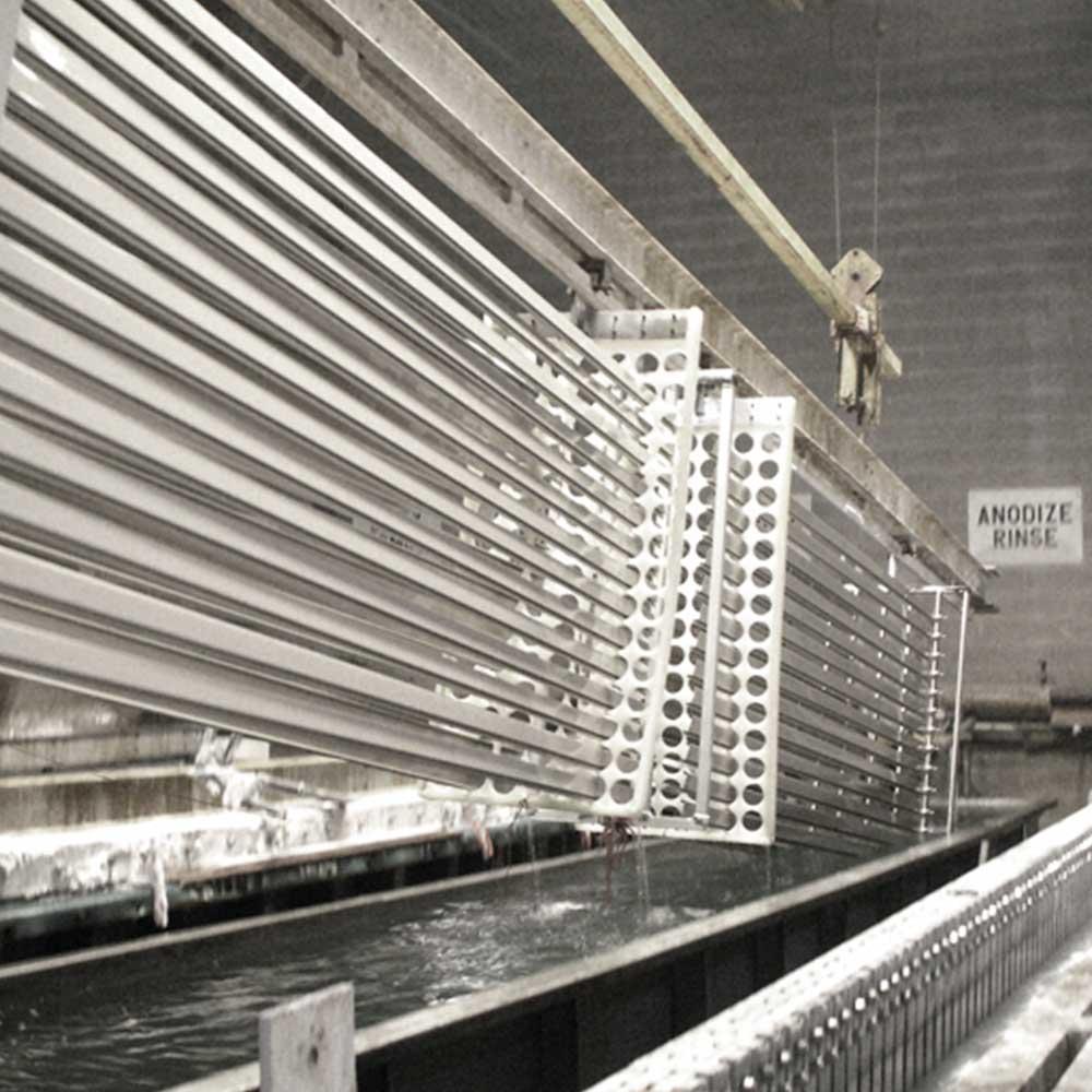 anodizado de perfiles de aluminio